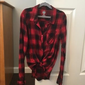 Girls button down flannel shirt